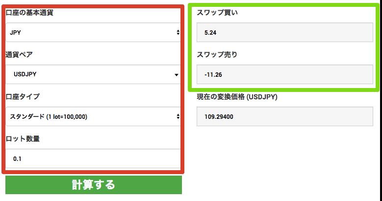 XMスワップ計算事例