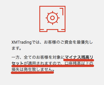XMマイナス残高リセット